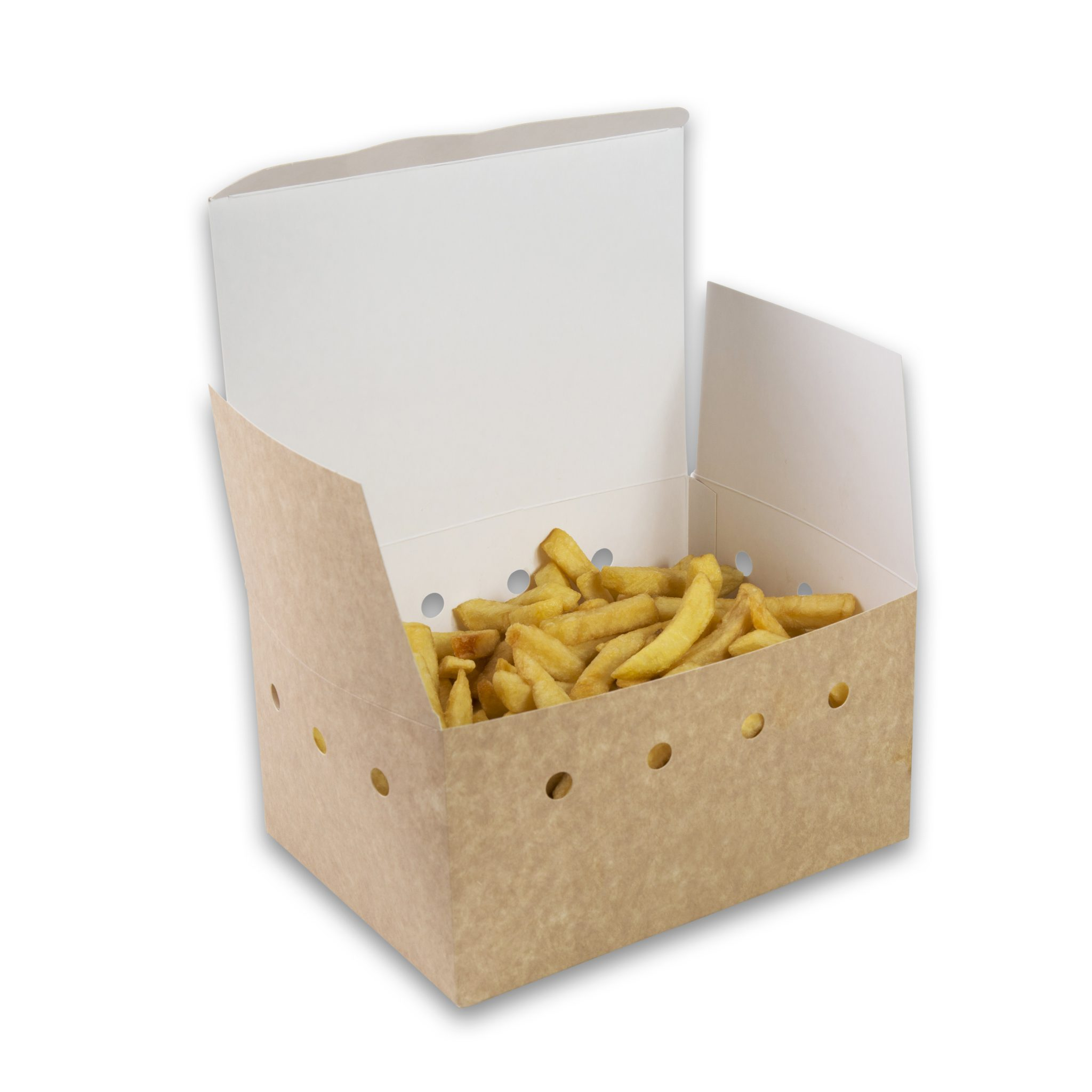 Kraf Karton snackbox, 190x140x100mm gezinsbox