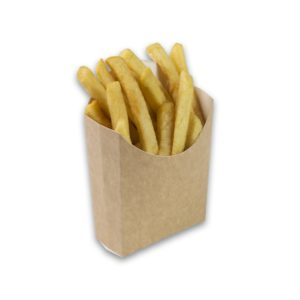 Kraft karton Frietscoop Medium 105x85x40 mm snackverapkking