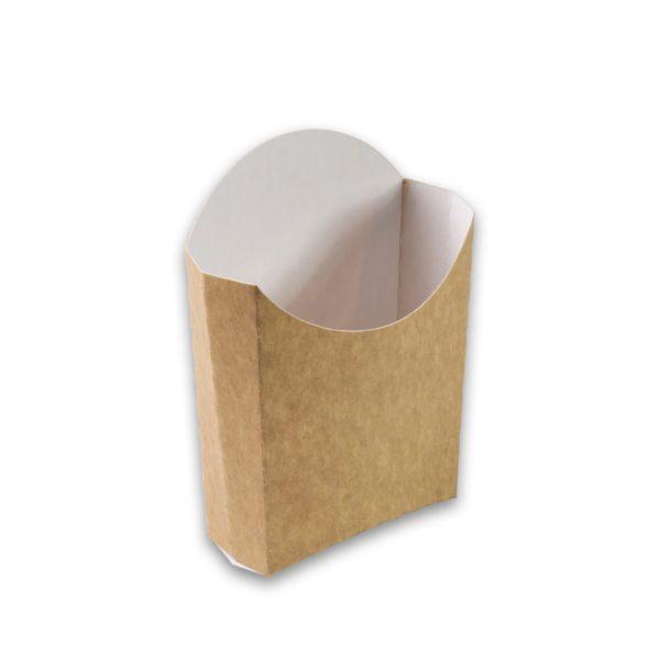 Kraft karton Frietscoop Medium 105x85x40 mm snackverapkking