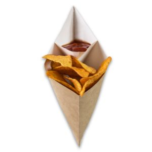 Kraft-karton-Frietzak-met-sausvak-large-300x231x196-mm-snackverpakking-Chip-n-Dip-groot