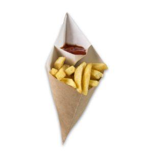 Kraft-karton-Frietzak-met-sausvak-medium-295x227x196-mm-snackverpakking-Chip-n-Dip
