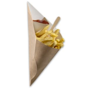 Kraft-karton-Frietzak-met-sausvak-medium-295x227x196-mm-snackverpakking-Chip-n-Dip