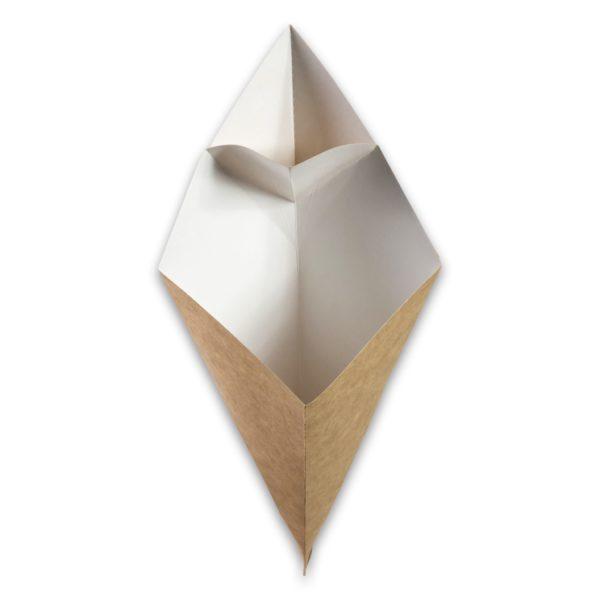 raft karton Frietzak met sausvak small 212x164x141 mm snackverpakking Chip 'n Dip klein (7)