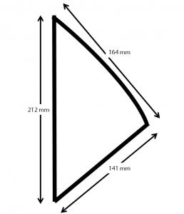 Kraft karton Frietzak met sausvak small 212x164x141 mm snackverpakking Chip 'n Dip klein maten