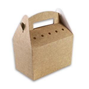 Kraft karton Snackbox met handvat 192x112x132 kidsbox