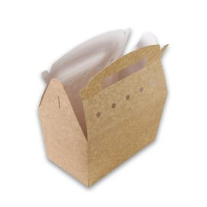 Kraft karton Snackbox met handvat 192x112x132 kidsbox
