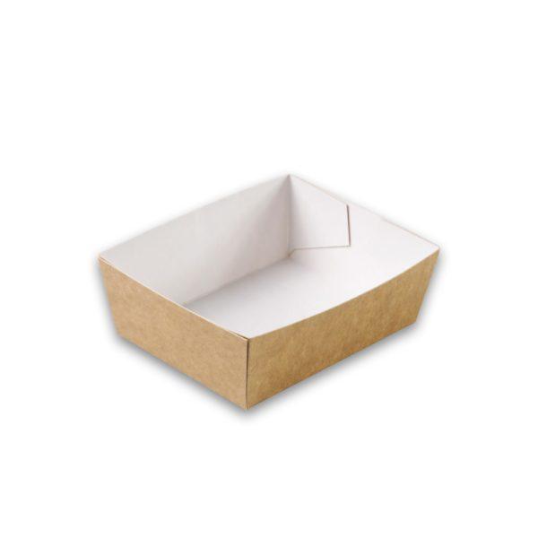 Kraft karton snackbakje A2 small 90x70x35 mm snackverpakkin