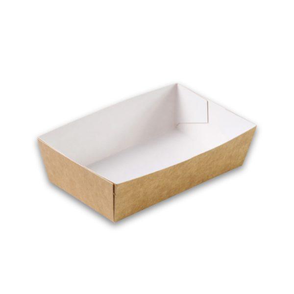 Kraft karton snackbakje A3 medium 120x70x35 mm snackverpakking