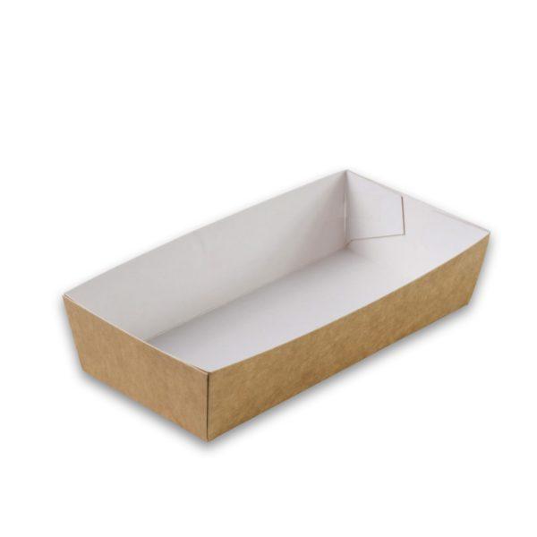 Kraft karton snackbakje A5 large 150x70x35 mm snackverpakking