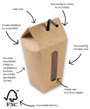 voordelen pop-up cup drankverpakking