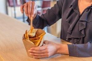 Chip 'n Dip Table Top Frietbakje met sausvan van Fonkels