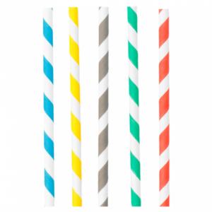 Papieren rietjes Mix (6 mm x 200 mm)