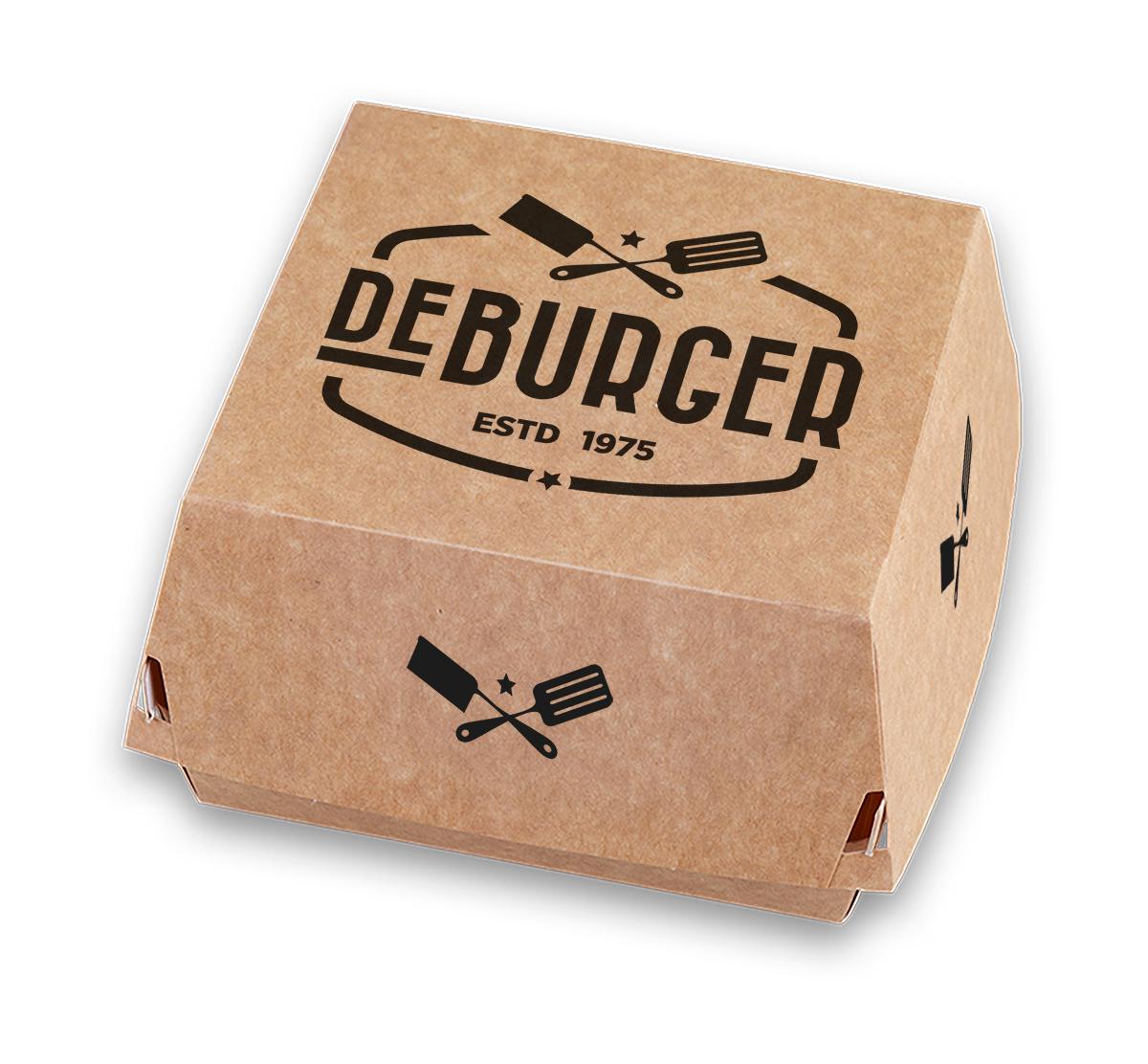 Hamburgerbakjes met eigen logo